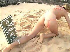 blonde teen at nude beach
