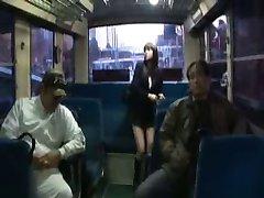 Japanese girl gangbang In the inside of a bus