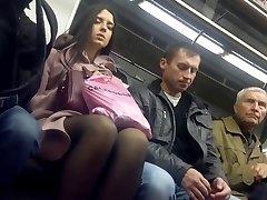 Hot Pantyhose Legs in Metro