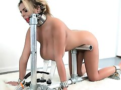 Milking Machine and Busty Blonde