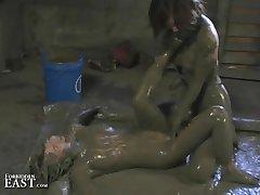 More Japanese FemDom Messy Mud Wrestling - Strange But True!