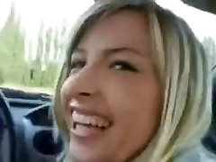 Blonde Teen Car Blow Job Swallows