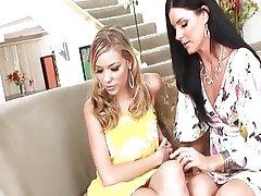 Kinky couple seduces the sexy babysitter