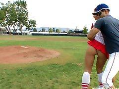Kylee Strutt practiced on her baseball coach instead