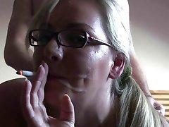 Smoking Fetish - Amazing blonde smoking and fucking!