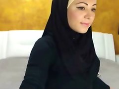 Sexy Hijabi Jenta på Cam