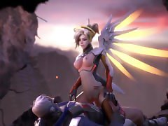 [LOOPED 5 MINS] - Mercy riding Soldier76 - Animation by Ellowas - Overwatch