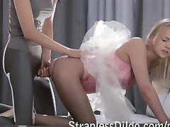 Ballerina strapon fucked by a dance teacher