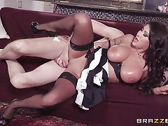 Naughty maid Angelica Taylor fucked in her asshole