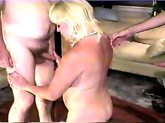 Buxom blonde gets 2 cumshots Pt 1/2