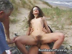 Vanjski Grupni seks na plaži