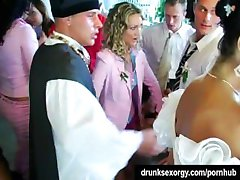 Wedding whores are fucking in public