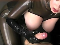 Latex Hand Job JOI
