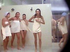 Porkys - Spycam gloryhole douche scene (solo girls)