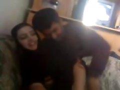 arab couple enjoying time