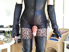 Sissy sexy thigh high boots 2