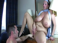 Huge Tit BBW Stewardess
