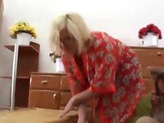Blonde granny loves it rough
