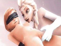 Έλσα και η Άννα 3D σεξ compilation (Κατεψυγμένα)