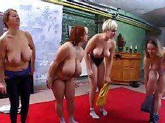 Chubby gym orgy