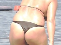 Толстушки bikini - szczery osioł Beach pupą podglądaczem - szpiegostwo dupy