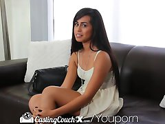 CastingCouch-X Shy dark skinned beauty is auditioning for porn