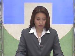Japonés lector de noticias bukkake