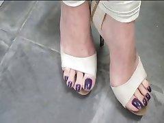 Deusa Grazi sexy dedos de los pies