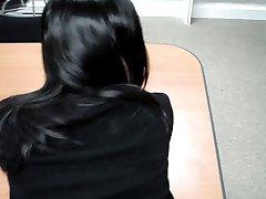 Nuevo coreano secretario follando en la oficina