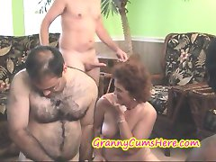 SLUTTY Cum Swilling GRANNIES at a SWINGERS PARTY