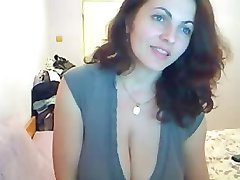 Lovely Brunette Big Natural Tits Playing