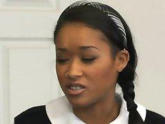 Hot Black schoolgirl banged by teacher