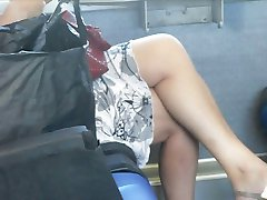 Spy Sexy Mature on the train