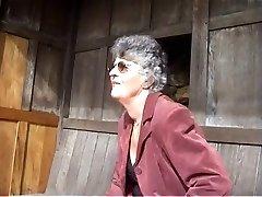Loveley Grandma Shows The Tatoowed Gardener Her Flowers