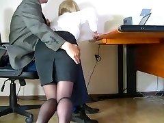Covert camera filmed a discreet secretary