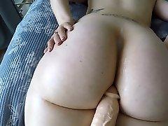 Gigantic booty white girl