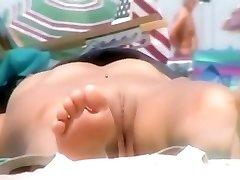 Nude on Beach Spy nudist Arse and Twat