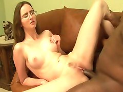 Cute chick with glasses gets IR fuck and armpit love