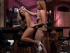 Lesbian chicks in a bar