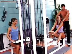 In the gym with Janet Peron and Lucy Lee