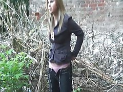 Pissing beautiful Russian girl