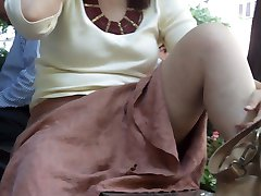 upskirt on older later p2