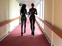 Amazing latex rubber girls