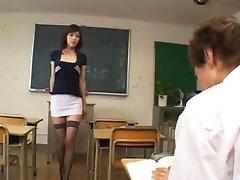 Horny japanese teacher - uncensored