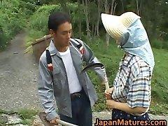 千里Shoudaアジアの成熟したニワトリがpart4
