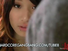 Asian 18-year-old Maid Stages Her Own Gangbang