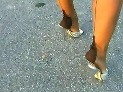 Nylon & High Heel teasing