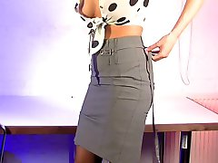 Phonesex babe teasing and undressing