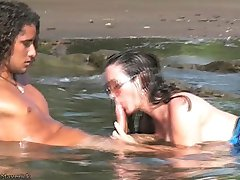 Nikki Fritz Hardcore BJ & Sex on Costa Rica beach