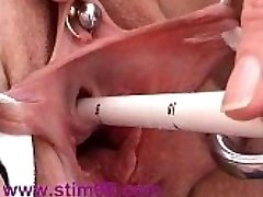 Cervix and Peehole Fucking with Objects Masturbating Urethra